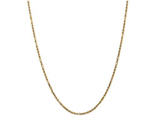 Finejewelers 24 Inch 14k Yellow Gold 2.5mm Milano Rope Chain Necklace
