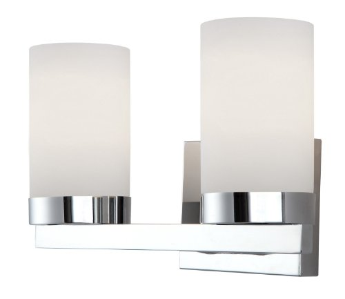 Canarm IVL429A02CH Milo 2-Light Bath Vanity - 2 Down Sconce Light
