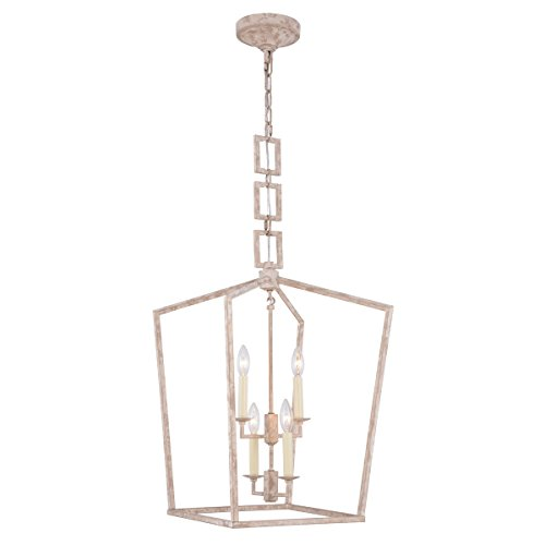 Elegant Lighting Denmark 4 Light Pendant in Ivory - 4 Denmark Light Pendant