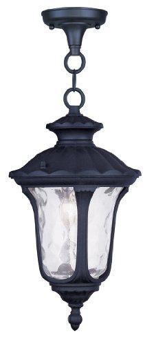 Livex Lighting 7849-04 Oxford 1 Light Outdoor Hanging Lantern, Black ()