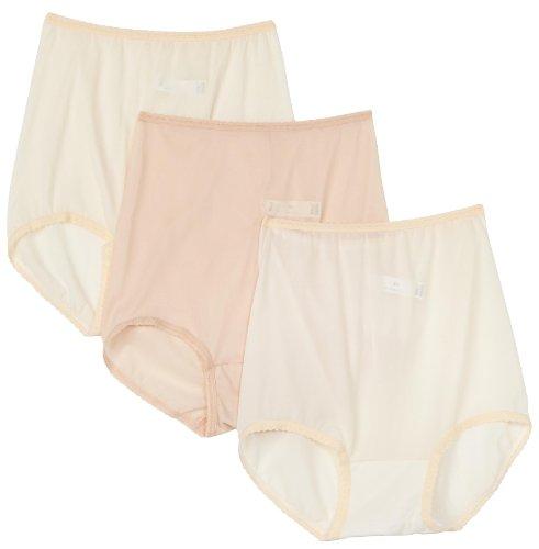 Bali Women's 3-Pack Skimp Skamp Brief Panties, 2 Moonlight/1 Mocha Mist, Size 6