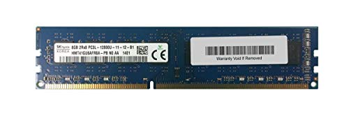 HMT41GU6AFR8A-PB Hynix 8GB PC3-12800 DDR3-1600MHz Non-ECC Unbuffered CL11 240-Pin DIMM 1.35V Low Voltage Dual Rank Memory Module