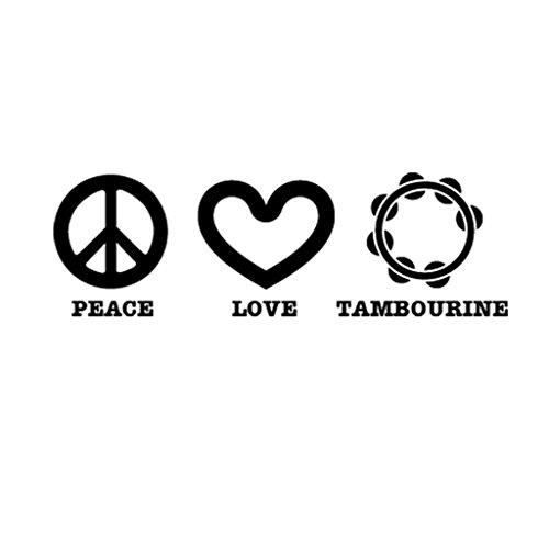 PEACE LOVE TAMBOURINE Music Musician Car Laptop Wall ()