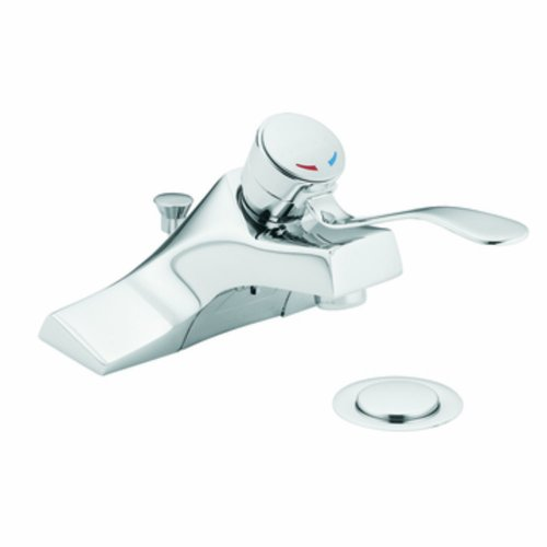 Moen 8455 M-Bition Single-Handle Lavatory Faucet with Pop-Up Waste Assembly, Chrome (Assembly Waste Up Pop)
