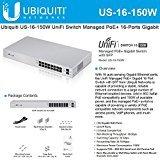 Ubiquiti US-16-150W UniFi Managed PoE+ 16-Ports Gigabit Switch with SFP, 150W by Ubiquiti Networks