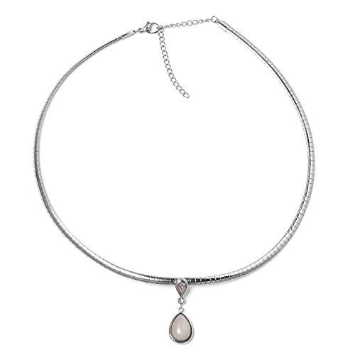 """Shop LC Delivering Joy Pear Rose Quartz Choker Necklace for Women 17"""""""
