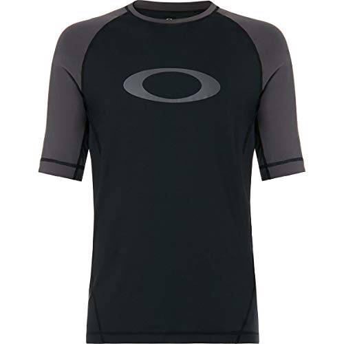 Oakley Rashguard Tee Men's Rashguards - Blackout/Medium (Guard Rash Oakley)