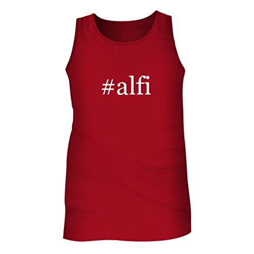 Tracy Gifts #alfi - Men's Hashtag Adult Tank Top, Red, - Alfi Top