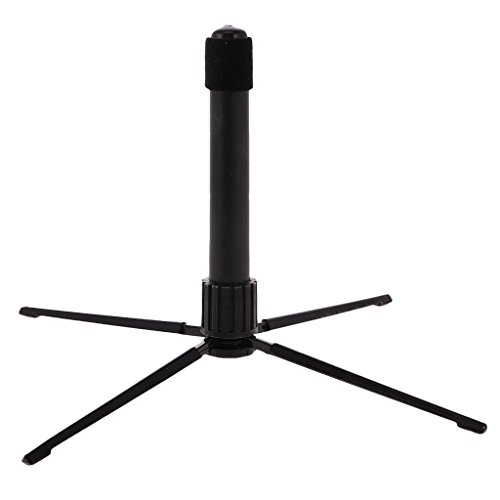 Black Portable Folding Flute Stand Bracket Rack Support Holder Accessory by MagiDeal (Image #2)