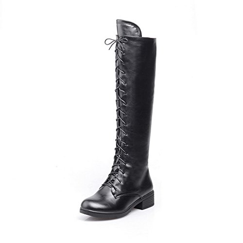 1TO9 Ladies Bandage Square Heels Soft Material Boots