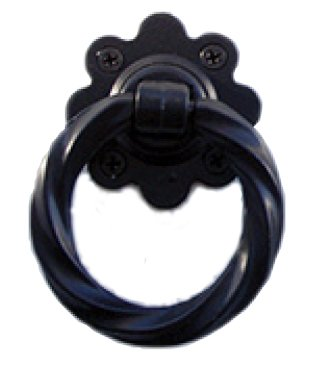 Twisted Steel Handle Pull - Twisted Ring Pull Handle (Black Polyester Powder Coat)
