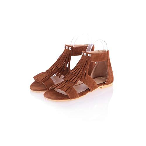 Rome Style Tassels Rivets Sandals Sapatos Femininos Sandalias Feminina,tuo se,9