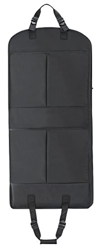 Magictodoor 45 inch Waterproof Garment Bag Extra Capacity Pockets Adjustable Handle