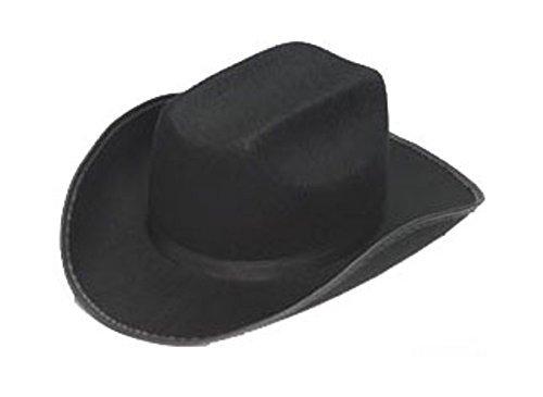 Child's Permalux Black Cowboy Costume Hat