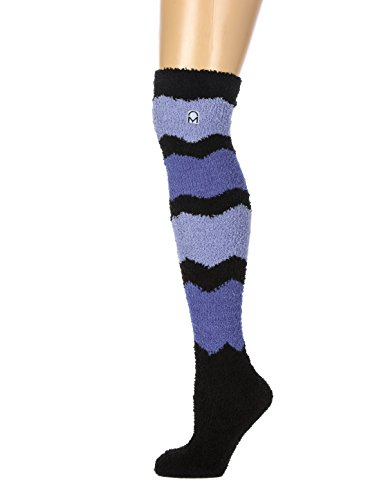 1-Pair Womens Noble Mount Soft Anti-Skid Fuzzy Winter Over The Knee Socks - A1