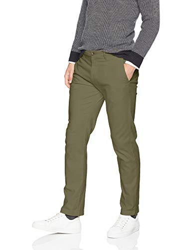 Stretch Cotton Khakis (Amazon Essentials Men's Slim-Fit Casual Stretch Khaki, Olive, 32W x 32L)