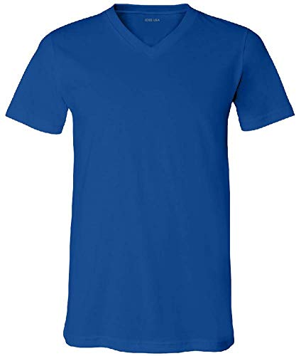 - Joe's USA - Men's Short Sleeve V-Neck Jersey T-Shirts in -2XL True Royal