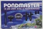Pondmaster 02180 18 LED Light Ring & Fountain Head by Danner