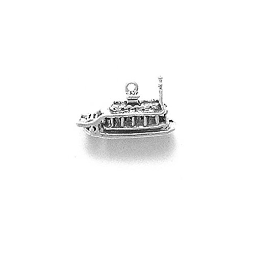 Sterling Silver Moveable Show Boat or River Boat Charm Item #389 (Best River Boat Cruise In Chicago)