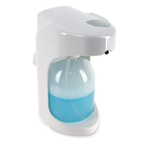 Lantoo Foaming Automatic Soap Dispenser, Hands free Automatic Foam Soap Dispenser for Bathroom & Kitchen, 16oz Capacity, Adjustable Foam Control, Wall Mounted/On Countertop ()