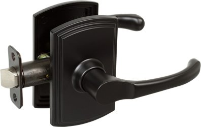 Delaney Artino Design Black Passage Door Lever (Hall & Closet)