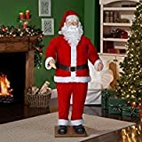 6' Life Size Animated Dancing Santa with Realistic Face