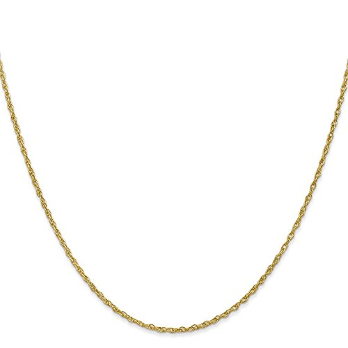 14k Yellow Gold 1.3mm Baby Rope Chain Necklace 18'' by Venture Jewelers