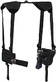Vertical Shoulder Holster Concealed Carry Shoulder Holsters Adjustable for Most Handguns or Pistol Black