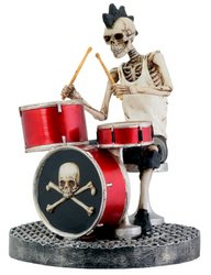 Skull Drummer - Collectible Figurine Statue Sculpture Figure Model