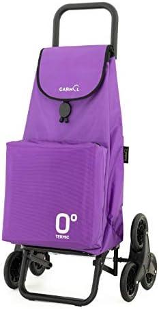 Garmol 218G2 Espiral C664 Carro Compra 55L Negro y Violeta Tela