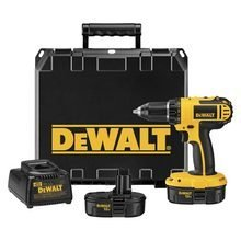 """Dewalt DC720KA 18 Volt 1/2'' Cordless Compact Drill / Driver Kit with Compact Design and 1/2"""" R, by Dewalt"""
