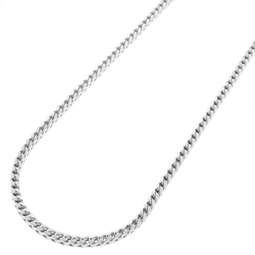 - 925 Italian Sterling Silver 2mm Solid Franco Chain, FREE Microfiber Cloth, Rhodium Plated Square Box Link Necklace 16