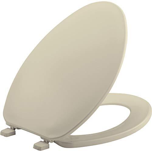 Elongated Economy Plastic Seat - BEMIS 170 006 Toilet Seat, ELONGATED, Plastic, Bone