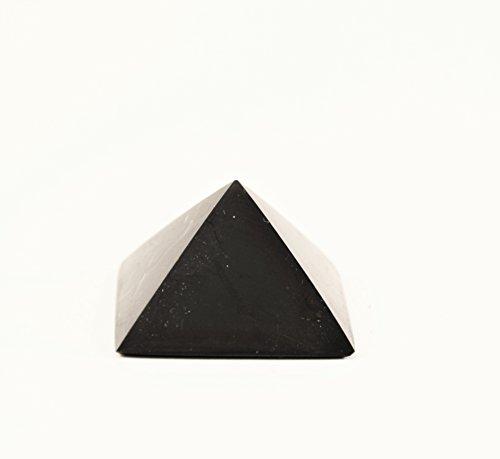 Genuine Big Shungite Pyramid  10 cm  Polished  Karelian