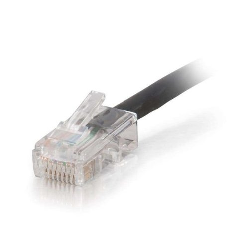 Plenum CMP-Rated Black 35ft Cat5e Non-Booted UTP Unshielded Network Patch Cable