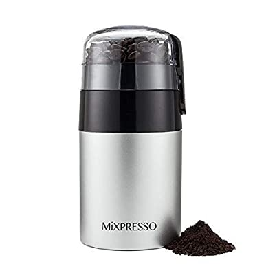 Electric Coffee Grinder | Powerful 150W Motor with Double Stainless Steel Blades | Large Capacity For Beans, Seeds & Spices | Removable Safety Lock & One-Touch Control | Maximize Coffee Flavor & Aroma