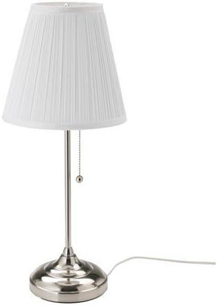 Ikea arstid lámpara de mesa en color blanco; niquelado; (55 cm); A ...