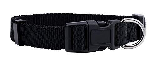 Native Pup Nylon Dog Collar Classic Solid Colors (Medium, Black)
