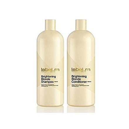 Label.M Brightening Blonde Shampoo And Conditioner (1000ml) Duo