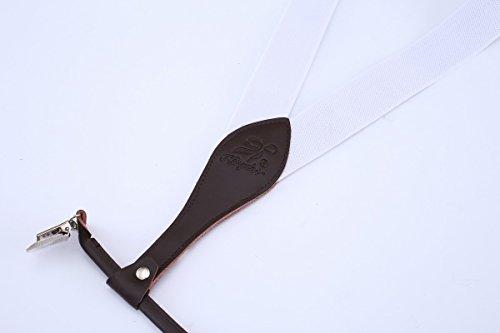 Elastique Pantalons Forme Ahatech Réglables 4 Clips Pour V Cuir Bretelles Homme Clip Noir Casual Blanc on IRROwqHY