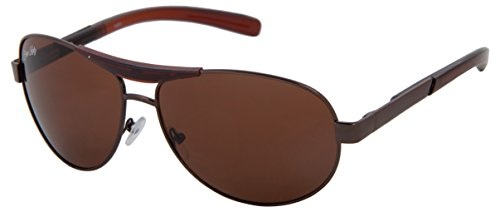 Silver Kartz UV Protected Aviator Unisex Sunglasses - (wc073|55|Brown)