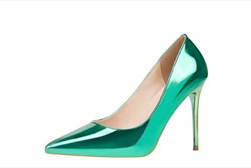 Et De Chaussures Gold Discothèque Métalliques Green Ferza Mode Sexy Size Talons Home Simple Grippales 37 À Fines color wqtxpIP