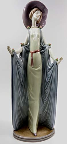 Lladro Porcelain Figurine - ''Afternoon Tea'' Sculpted by Jose' Puche 14 Inches Tall ()