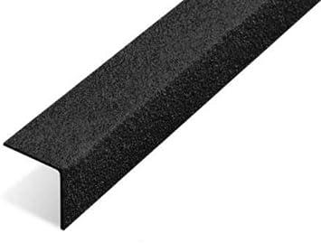 Nariz antideslizante para escalera, agarre de borde de escalera GRP, color negro: Amazon.es: Bricolaje y herramientas