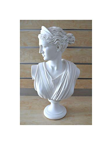 (Estia Creations Artemis Sculpture Diana Bust Ancient Greek Goddess of Hunt Grand Statue)