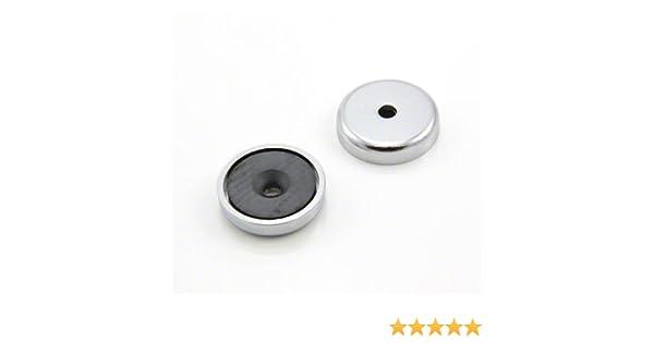 /Ø1.26 x 0.28 6.9kg Pull Magnet Expert /Ø32 x 7mm Ferrite Y30BH Pot Magnet /Ø0.20 5mm csk Hole 15.2 lbs 1pc