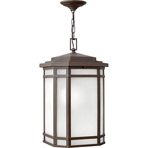- Outdoor Pendant 1 Light Fixtures with Oil Rubbed Bronze Finish Cast Aluminum Material Medium Bulb 12