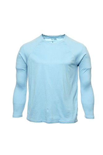I-N-C Mens Solid Raglan Graphic T-Shirt rainblue XL
