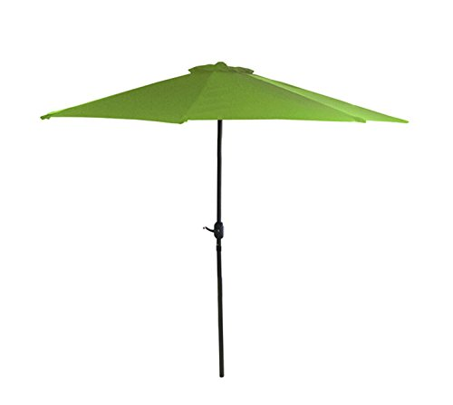 Northlight 7.5 ft. Outdoor Patio Market Umbrella With Hand Crank – Lime Green For Sale