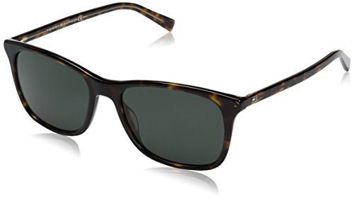 Tommy Hilfiger Th1449s Rectangular Sunglasses, Havana Yellow/Gray Green, 54 mm